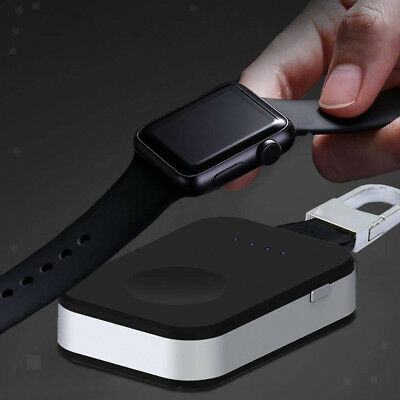 950mAh Wireless Charger Station Dock Stand Power Bank Holder for Apple Watch
