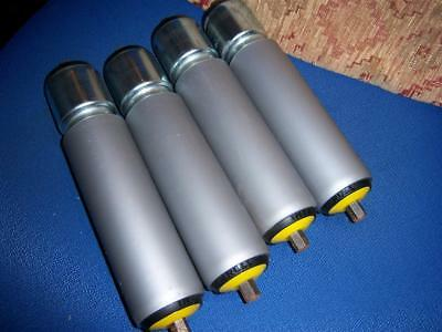 4x rollers 235mm long x 50 dia 11mm hex shafts FREE UK POST