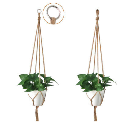 Pot holder macrame plant hanger hanging planter basket jute braided rope FM