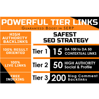 Manually Create 3 Tiers Contextual Backlinks , Safest SEO , Rank your Website .