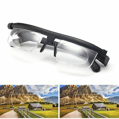 Adjustable Focus Glasses Non-Prescription Lenses Magnifying Unisex Glasses UK
