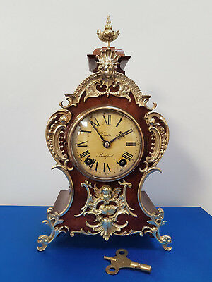 A superb mid 19thC 8 day mahogany boulle clock by Coates of Bradford