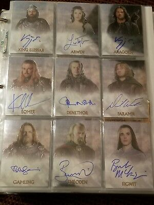 Lord Of The Rings Trilogy Topps Chrome 124 Card Set - 14 Autograph, 9 Costume