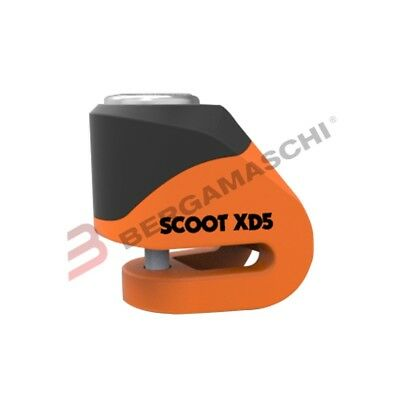 Oxford C800294 Lucchetto Scoot Xd5 Pin 5,5Mm Arancione