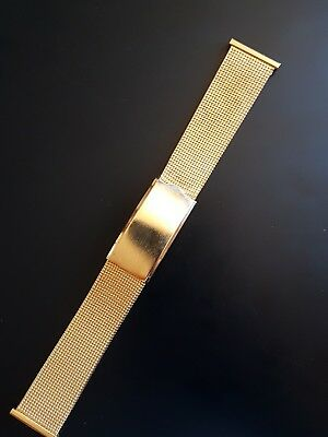 Vintage Bracelet Mesh Whatch 20Mm,  Diver , Chronograph Yellow Stainless Steel