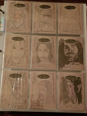 Lord Of The Rings Evolution Topps Card Collection - 19 Sketch - 7 Costume