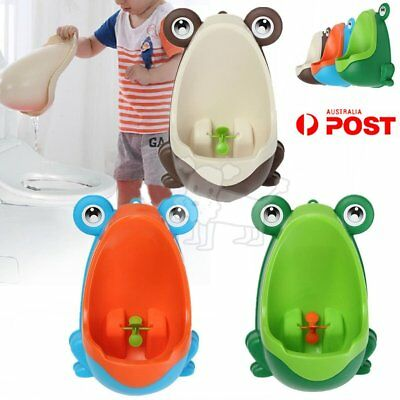 Kids Baby Toddler Boy Frog Potty Urinal Pee Toilet Travel Home Training TraineMT
