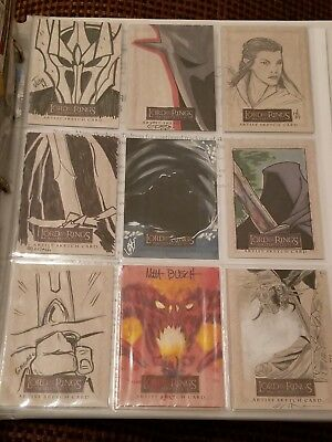 Lord Of The Rings Masterpieces II Topps Trading Card Sets - 13 Sketch - 26 Foil