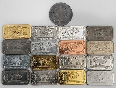 The Full Monty 17 x 1 gram buffalo metal set inc Tantalum Indium Silver Niobium+