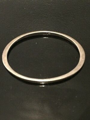 Vintage Sterling silver bangle with shaped sides