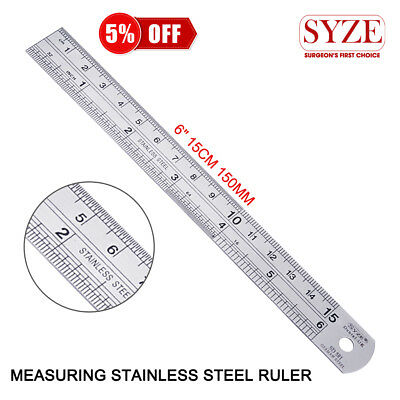 Metric & Imperial Stainless Steel Rule Imperial Metric Ruler Marking Metal Rule
