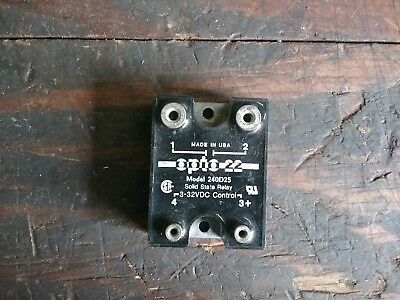 OPTO 22 Model# 240D25, 3-32 VDC Solid State Relay