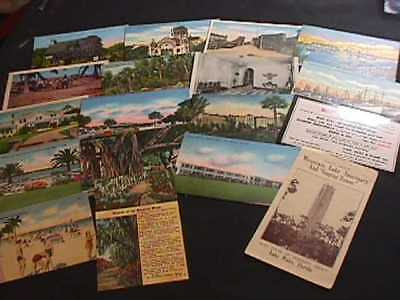 17 Postcards From Florida Locations & Mountain Lake Sancturay Brochure