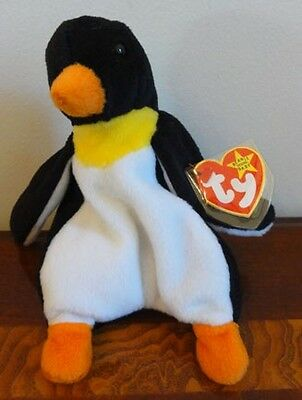 """TY BEANIE BABIES BABY WADDLE the PENGUIN MWMT 7""""  STYLE 4075"""