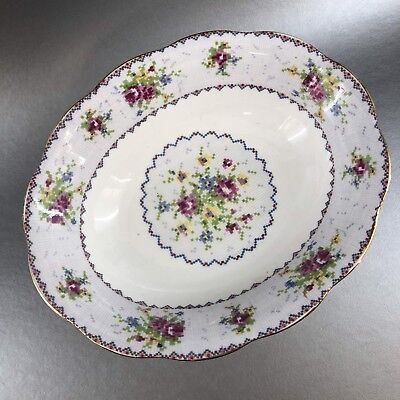 "Vintage Royal Albert Petit Point 9"" Oval Vegetable Serving Bowl England China"