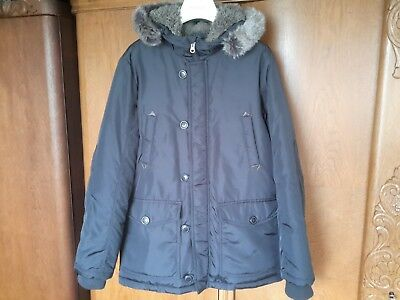 Winterjacke United Kapuze Color Benetton S Jungen 164 TlFc3K1J