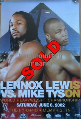 LENNOX LEWIS MIKE TYSON Poster Boxing Heavyweight Boxing Poster [36 x 24] C