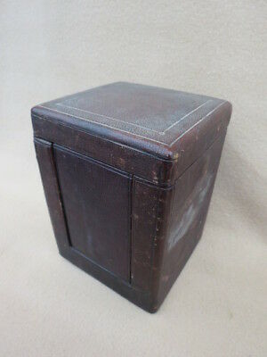 Large Antique French Carriage Clock Travel Box Case