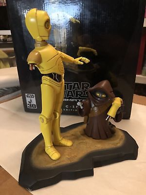 C-3PO and Jawa STAR WARS Gentle Giant Maquette Animated  4500 Ltd Edition