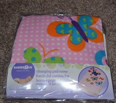 NEW Changing Pad Cover Babies R Us Pink Butterflies Ultra Soft