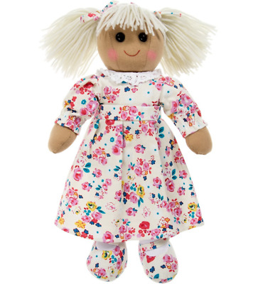 Rag Doll Large Personalised Name or Message - Floral Dress 40cm - FAST DISPATCH!