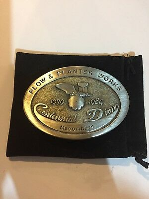 John Deere Plow And Planter Works 1979-1984 Centennial Macombers Belt Buckle