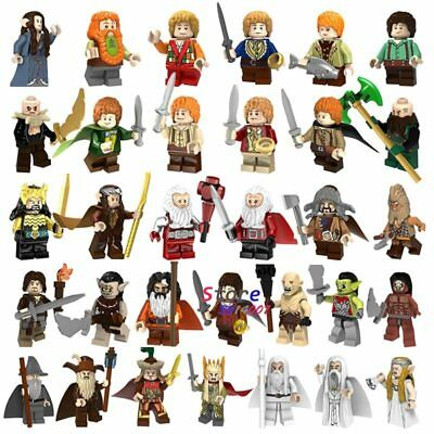 Minifigures Lord Of The Rings Frodo Baggins Gandalf Building Blocks Pogo Toys