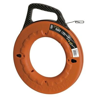 Klein Tools 125 Feet Steel Fish Tape Depth Finder Wire Pulling Electrical Tool