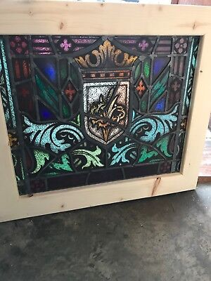Sg 2639 Antique Painted In Fired Window Thorn Flower 22.5 X 26.5