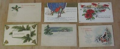 Nice Vintage Lot Of Six Christmas Xmas Themed Postcards #7