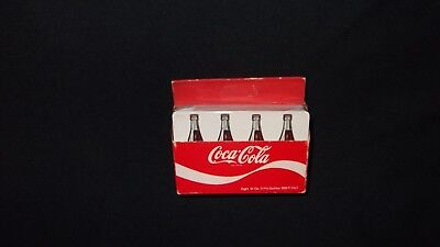 Coca Cola Playing Cards 2 Decks In Small 8 Pack Bottle Carrier Sealed Coke Deck