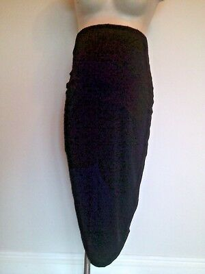 Asos Maternity Black Smart Jersey Stretch Pencil Work Skirt Size 12