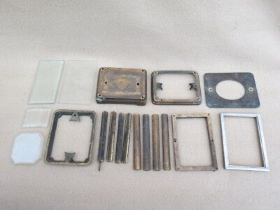 Collection Of Antique French Carriage Clock Case Parts