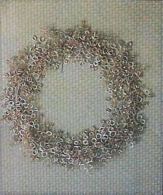 CODY FOSTER 16-Inch Cottage-Style ~EVERLASTING BLOSSOM WREATH~ Silver-Plated NWT