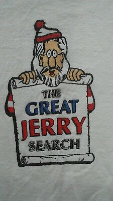 Great Jerry Garcia Search Vintage T Shirt Wheres Jerry Tour 1993 Rare!