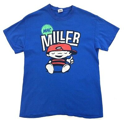Mac Miller OG Most Dope Cartoon Tee Blue Size Medium Mens T Shirt