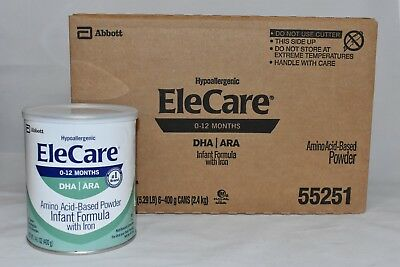 1 case 6 Cans EleCare Infant DHA ARA Can Powder Formula 0-12 FREE PRIORITY