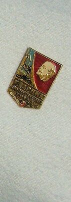 Vintage pin badge FROM THE USSR / Russia LENIN PIN