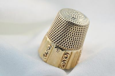 8K yellow gold thimble