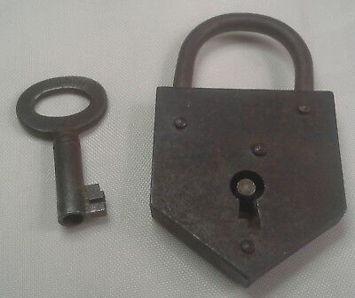 S004 ELZETT CARO OLD ANTIQUE ORIGINAL VINTAGE LOCK PAD PADLOCK