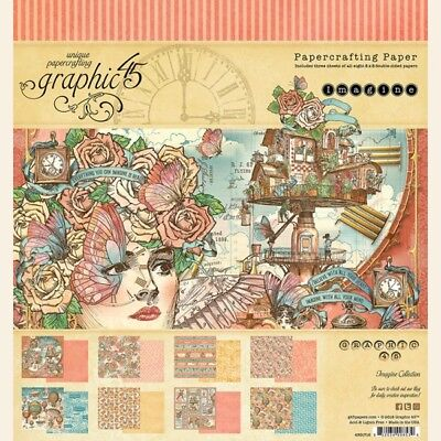 "Graphic 45 - IMAGINE - 8x8"" Scrapbooking Paper Pad - 24 sheets ~ Stampunk"