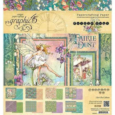 "Graphic 45 - Fairie Dust - 8x8"" Scrapbooking Paper Pad - 24 sheets ~ Fairy"