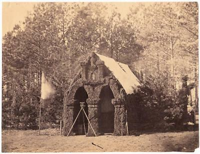 Timothy O'Sullivan Civil War Photo of the 50 NY Engineers HQ at Petersburg 1864