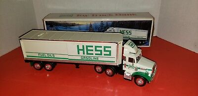 1987 Toy Hess Truck Bank With Box