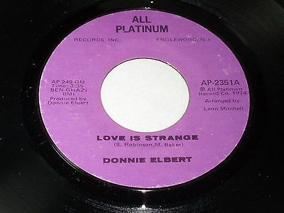 Donnie Elbert: Love is Strange / instrumental [ new Unplayed Copy]