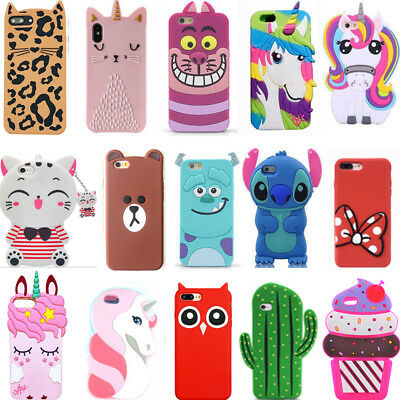 New Hot Pop 3D Cute Soft Phone Case Cover For Samsung S5 S6 S7 Edge S8 S9 Plus