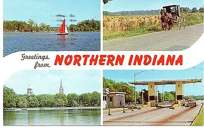 Greetings From Northern Indiana, Vintage Postcard, Jul