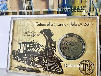Disneyland Disney Parks Railroad Return of a Classic July 29 2017 LE Coin - NEW