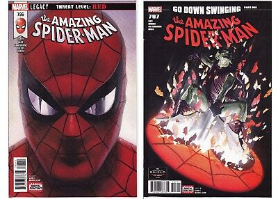 Amazing Spider-Man #796-797 Lot Alex Ross Marvel Red Goblin NM SEE SCANS!