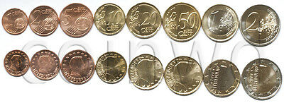 Luxembourg 8 coins set 2009 1 C - 2 EURO UNC (#1724)